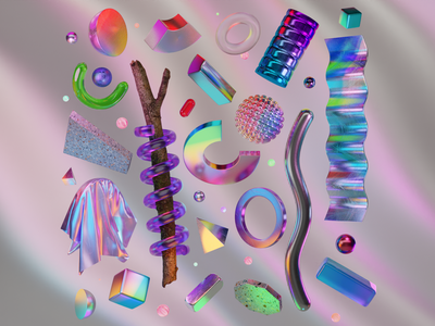 0010 - Forms & Shapes - Balance 0003 abstract art art direction render cycles 3dillustration ui blender branding logo 3d illustration design motion design animation motion graphics