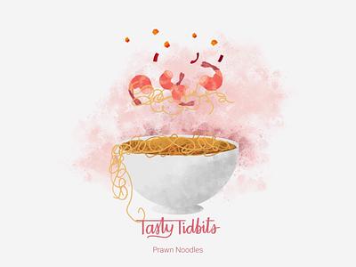 Tasty Tidbits grunge minimal aftereffects carrot prawns schoolofmotion animationformotion food capsicum noodles 2d animation design motion graphics motion design animation