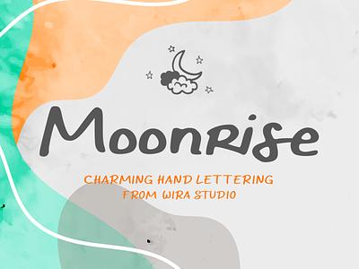 Moonrise Hand Lettering Font modern display font handlettering chic charming