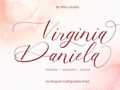 Virginia Danela - Script Calligraphy Font modern font branding wedding script font calligraphy feminine elegant