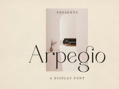 Arpegio - Display Font branding logo logo font modern font magazine feminine elegant display