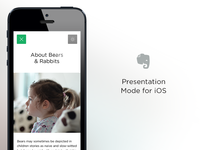 Presentation Mode for iOS