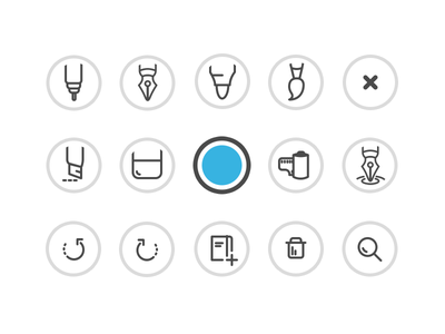 Some Icons evernote icons drawing pens tools