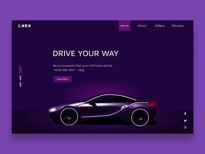 Cars review site ui logo art typography ux uiux web website minimal design webdesign