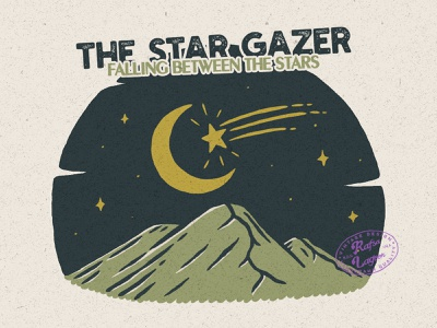The Star Gazer mountain logo adventure apparel mountain apparel mountain illustration mountain good design design branding good vibes adventure vintage badge vintage rafsalagoon nature illustration illustration