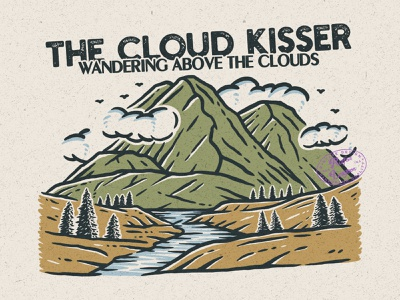 The Cloud Kisser mountain logo mountain good design branding design good vibes adventure vintage badge vintage rafsalagoon nature illustration illustration