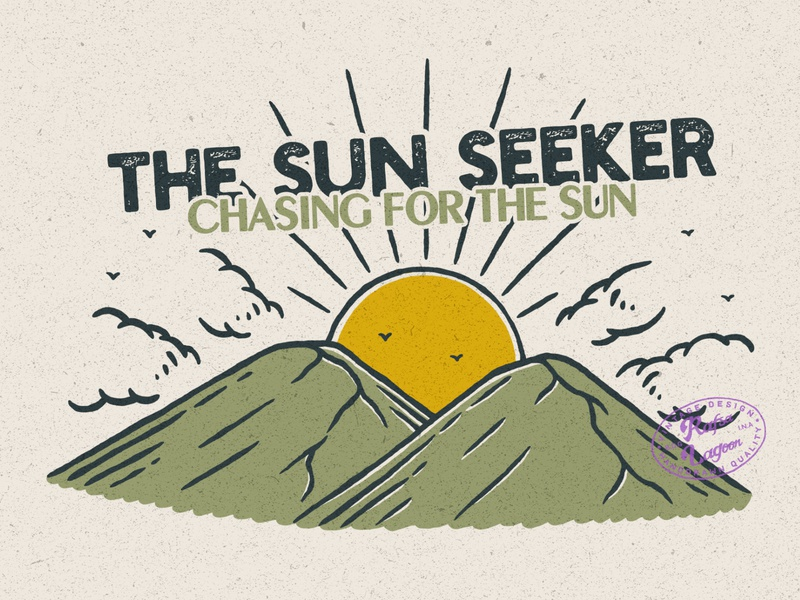 The Sun Seeker mountain logo mountain branding good design good vibes vintage design adventure vintage badge vintage rafsalagoon nature illustration illustration