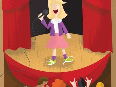 Illustration Friday - Voice illustration friday voice sing singer singing stage audience