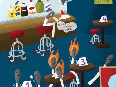 Illustration Friday - Spark spark illustration friday matches bar dating love fire bark dog ignite