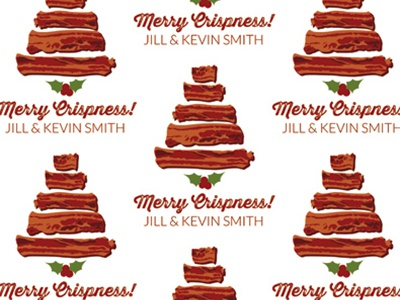 Merry Crispness bacon christmas tree holly holly berry holly berries crispy