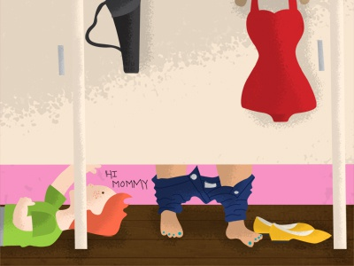 Illustration Friday - Natural illustration friday draw natural change naked au naturale fitting room store department store peek clothing