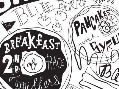 Breakfast is Best Art Print breakfast bagel pancakes bacon handlettering art illustration eggs doughnuts