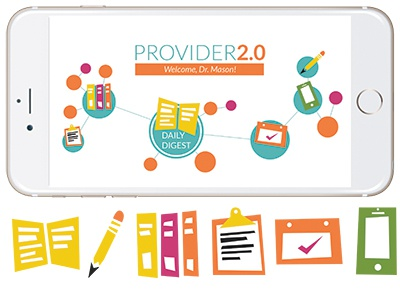 Provider 2.0 medical app iphone icons interactive illustration