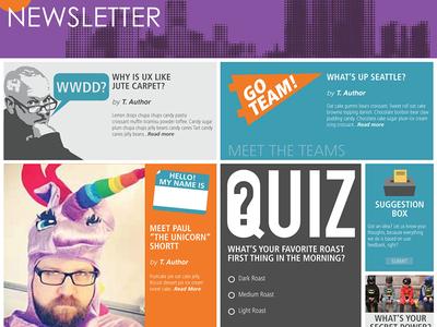 Optum Newsletter UI concept