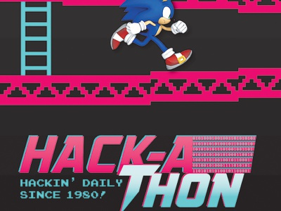 Hackathon 2015 graphic design retro web design healthcare software 1980s 8 bit pixel illustration ui designers ux designers developers hackathon