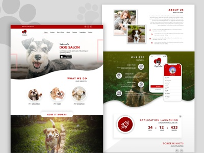 Pet Salon logo branding websiteui mobile ui graphicdesign uiuxdesigns website design designer mobileapp app website design ux typography