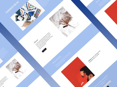 Fashion Blog Website Design minimalism red isometric blue minimalist minimalistic branding website design portfolio business minimal homepage ux ui webdesign blog design website blogging blog fashion