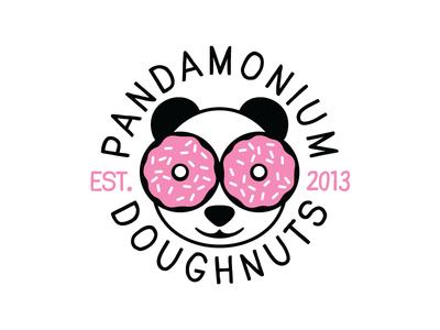 Pandamonium Doughnuts Logo