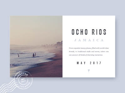 Jamaican Vacation  card date typography surf vacation jamaica