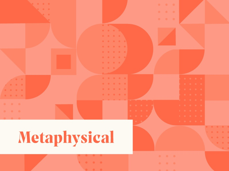 Metaphysical coral design abstract metaphysical square circle triangle layout grid polka dots geometric pattern