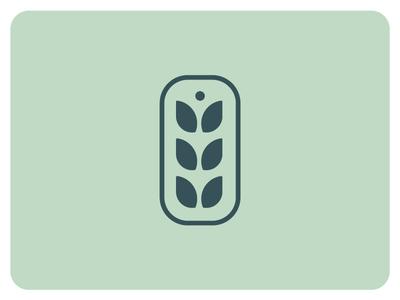 Wheat logo chain brand mark mark modern clean simple outline branding brand logomarks logomark wheat