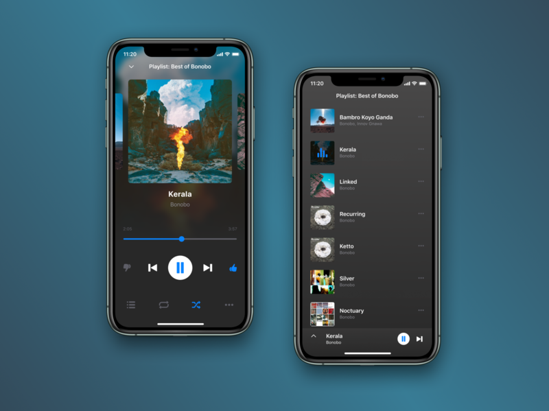 Music player for iOS mobile ui mobile design music player music app ios app ios design app minimal app design ux ui