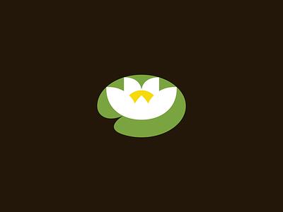 Logopond Mark typography water lily pond logopond logo redesign