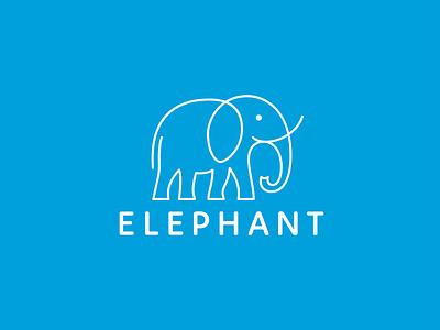 Elephant unused travel monoline logo line-art elephant branding