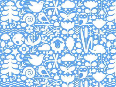 Sonum Pattern pattern spider butterfly lily of the valley hedgehog fish owl sheep dragonfly snail flowers spruce