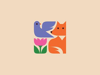 Logos #4 cute multi-icons line art negative space branding logo