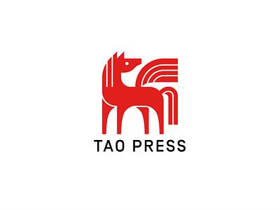 Tao Press logo branding horse pegasus tao press poetry book art