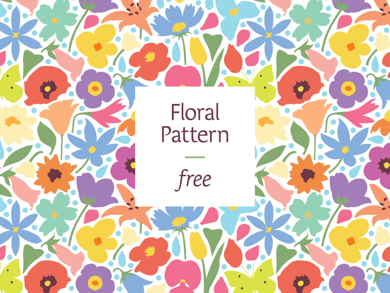 Floral Pattern flowers nature free vector pattern colorful