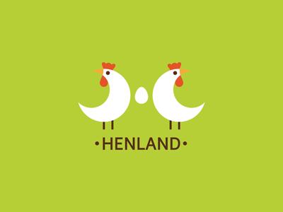 Henland poultry hen egg green ru-ferret ferrethills nikita lebedev logo