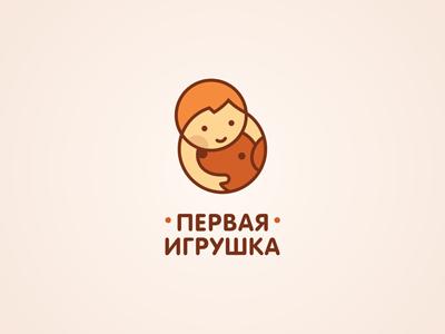 First Toy rounded cute dog game toy boy ru-ferret ferrethills nikita lebedev logo