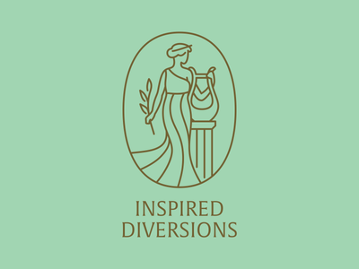 Inspired Diversions line art culture arts journey beauty greek patina muse lyre