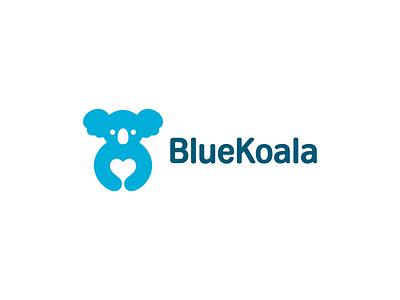 BlueKoala negative space heart insurance protection koala