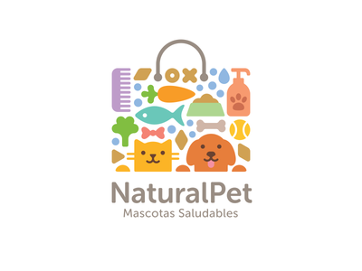 NaturalPet natural organic accessories food pet dog cat shopping bag
