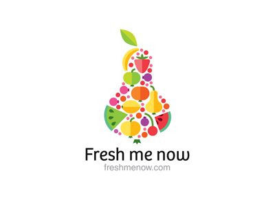 Fresh Me Now juice fruits multicolor pear fresh ru-ferret ferrethills nikita lebedev logo