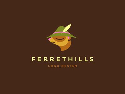 Ferrethills brand identity ferrethills ru-ferret logo nikita lebedev portfolio design ferret hill