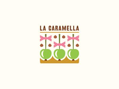 La Caramella cafe caramel chocolate fruits sweets apples ru-ferret ferrethills nikita lebedev logo