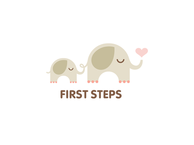 First Steps nikita lebedev ferrethills ru-ferret logo elephant love heart animal kids toy first steps mother child cute