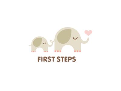 First Steps nikita lebedev ferrethills ru-ferret logo elephant love heart animal kids toy first steps mother child cute
