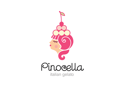 Pinocella nikita lebedev ferrethills ru-ferret logo retro girl sweet cherry ice-cream italian