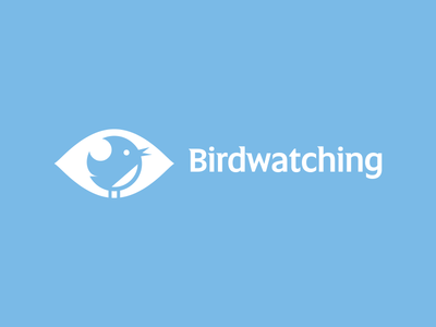 Birdwatching logo ru-ferret ferrethills nikita lebedev eye bird negative space