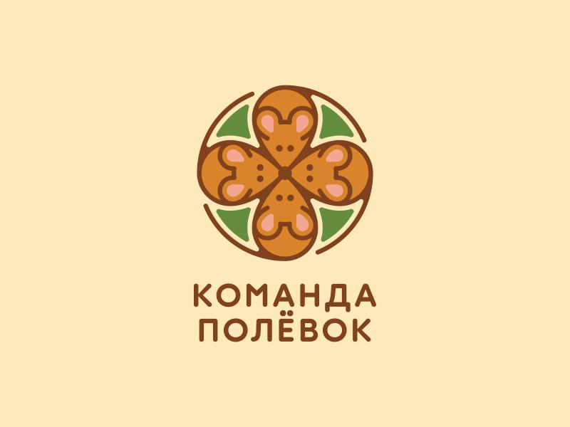 Komanda Polyovok logo traveling squad mouse team