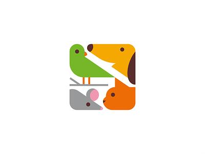 Logos logo design cute happy love pet shop pet cat dog mouse bird creative inspiration logo collection logo set graphic design brand mark logotype logo