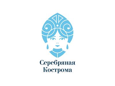 Silver Kostroma kostroma silver kokoshnik jewelry folk russian branding logo