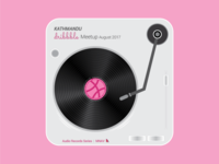Dribbble Gramophone illustration