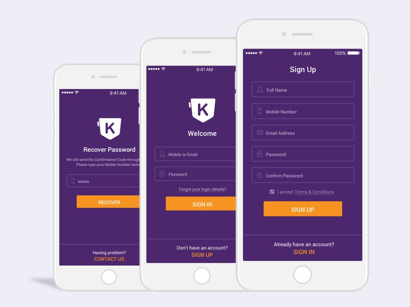 Sign up concept1