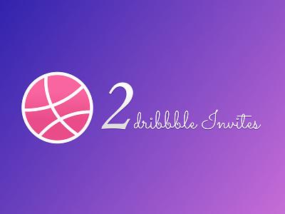 2 Dribbble Invites design invites dribbble